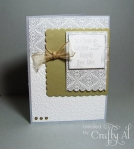 Metallic Wedding Card by