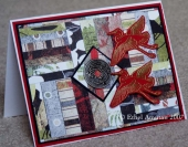 Gung Hei Fat Choy!  Bargello card and Teabear's challenge by