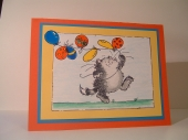 Cat with balloons by
