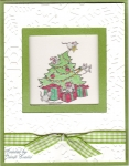 Christmas tree window card by