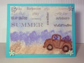 summer theme card by