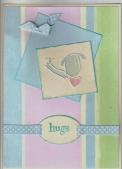 Doggie Cuttlebug Card - Hugs by