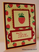 Papertrey Card: Strawberries by