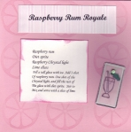 6x6 drink recipe card by