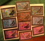 alcohol inks - ATCs by