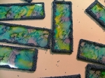 alcohol inks - microscope slides by