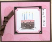 Birthday Cake Card by