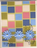 Birthday Card with Blue Flowers by