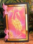Gold Leafing Cranes by