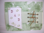 birthday card for my dad by