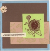 Sunflower Birthday Card by