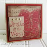 Jingle All The Way - Collage Card by