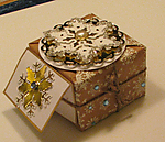 Christmas gift box and tag by