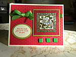 Repurposed Christmas Card by