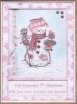"My "" Snowgirl"" card. by"