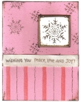 Pink and Brown snowflakes by
