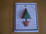 Christmas tree card class #4 by