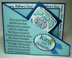 King of the Remote Father's Day Card (Front) by