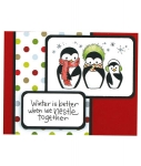 Nestle Together Penguin Card by Debi Hammons by