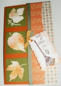Leaves are falling autumn card by