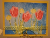Watercolor tulips by