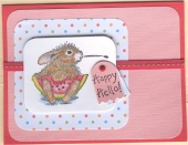 Watermelon Bunny Card by