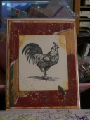 rooster card by