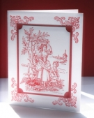 Red Toile Card by