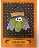 Embossed and pieced Halloween Card by