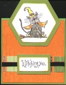Halloween tent card by