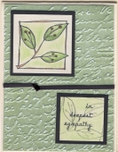 Sympathy Card.Leaf by