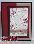 Fabulous Florets Thank You Card by