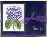 Hydrangea Thank You with Alcohol Inks Background by