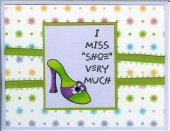 Another shoe card by