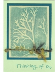 Foam shadow stamps - tree by
