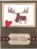 manly valentines card by