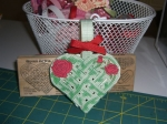 Roses and Vine Woven Heart Gift Holder by