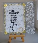 Second transparency wedding card by