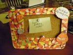 Candy corn frame by