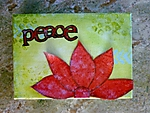 peace - altered canvas swap by