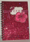 Glitter notebook by