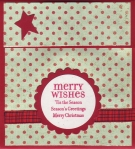 merry wishes gift card holder by
