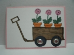 wagon of flowers by