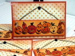 hanging pumpkins by