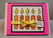 Birthday candle cards by