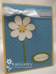 Bird Punch Daisy Card by