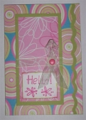 Scallop front - Hello - card by