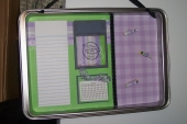 Altered Cookie Sheet - Magnetic Organizer by