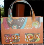 Summer tote bag - front view by