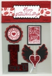 Valentines Card Candy by